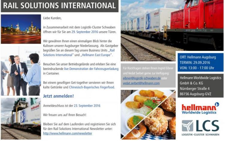 "Hellman Rail Solutions ""open doors"" at the Augsburg Freight Village (GVZ)"
