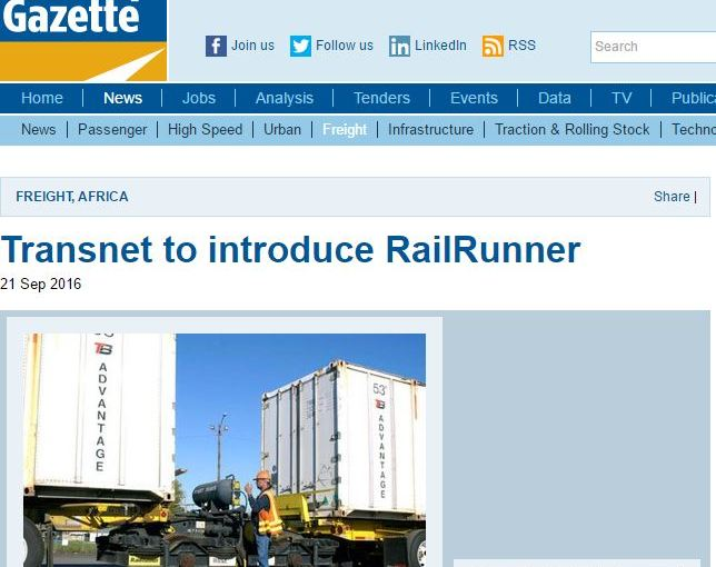 RailRunner taking off in South Africa